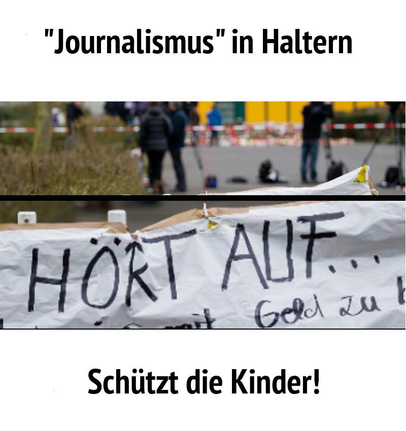 Journalisten in Haltern? .....Schützt die Kinder!